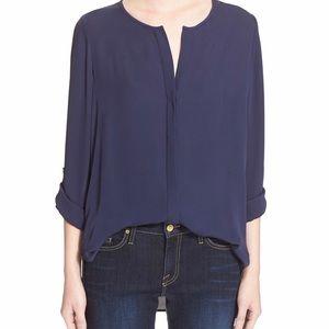 *NWT* Joie Kahari 3/4-Sleeve Silk Top, Dark Navy